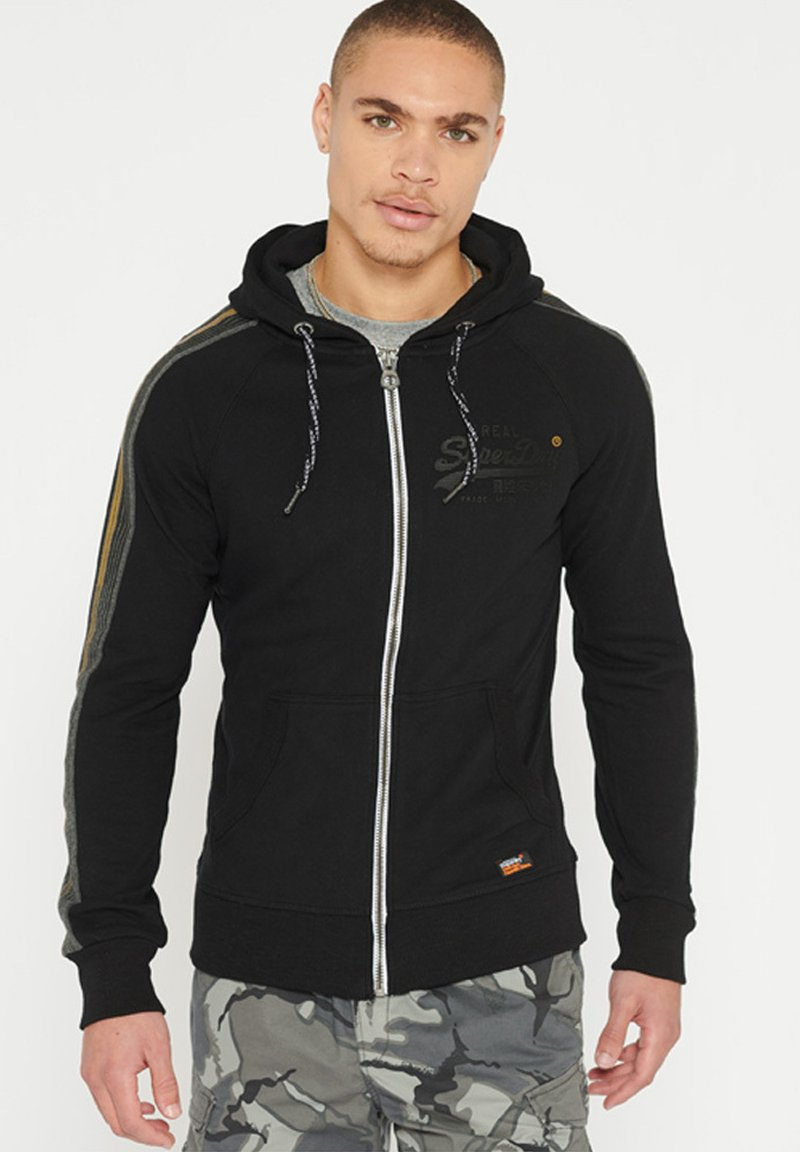 Superdry - Zip-up hoodie - black