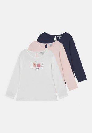 3 PACK - T-shirt à manches longues - bright white/insignia blue/pearl