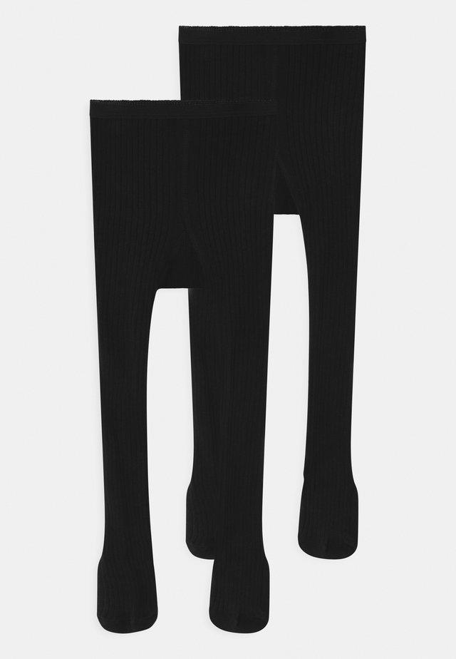 NKNPANTYHOSE 2 PACK UNISEX - Sukkahousut - black