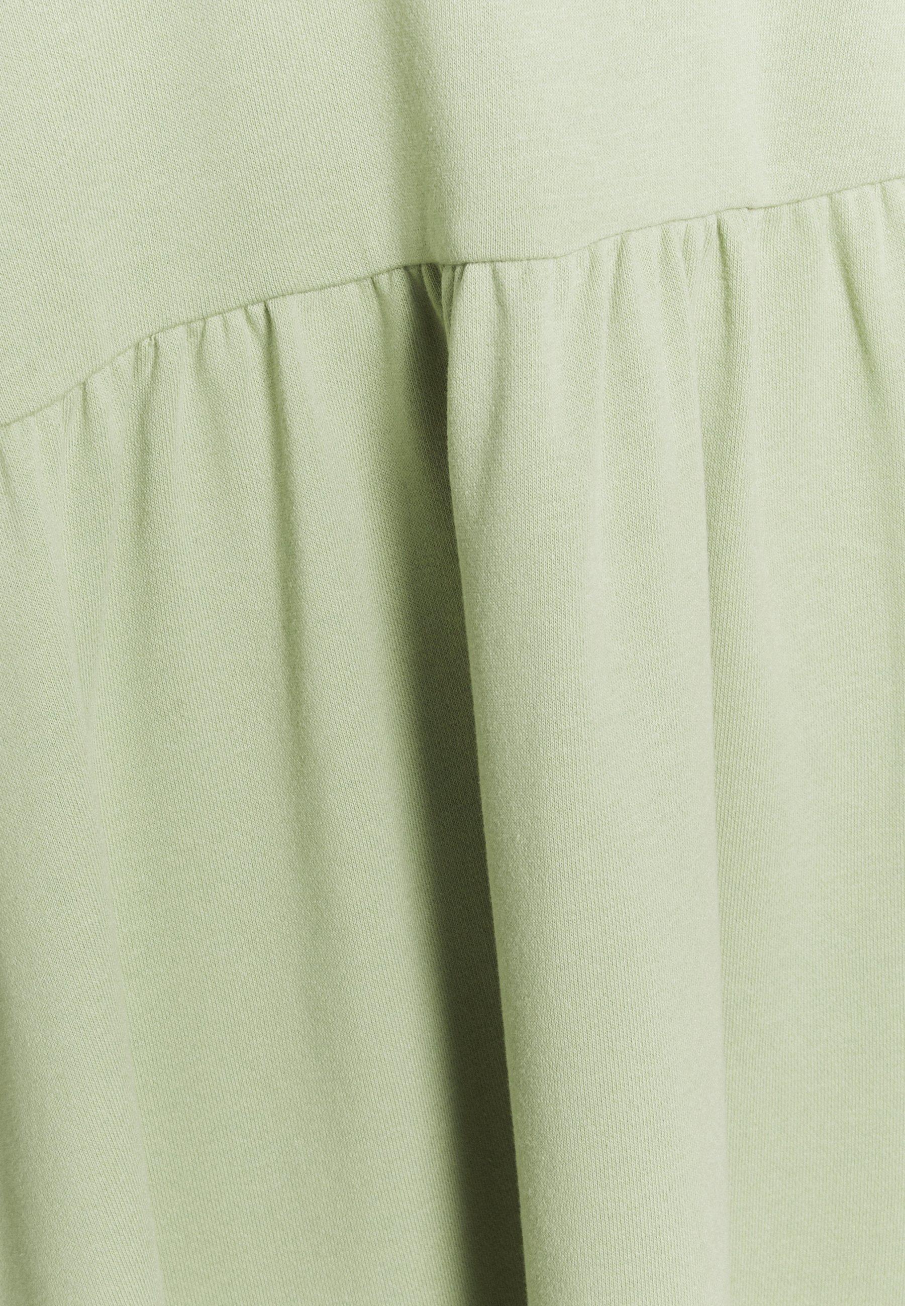 Monki Malin Hoodie Dress - Kjole Green Dusty Light/lysegrønn