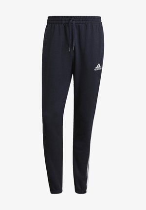 ESSENTIALS FRENCH TERRY TAPERED 3-STRIPES JOGGERS - Tracksuit bottoms - blue