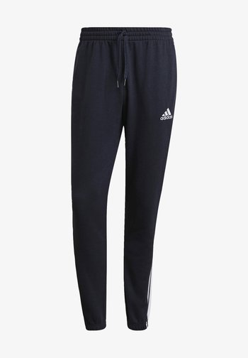 ESSENTIALS FRENCH TERRY TAPERED 3-STRIPES JOGGERS - Træningsbukser - blue