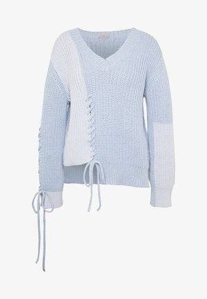 Strickpullover - light blue