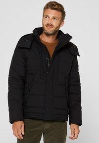 Esprit - MIT VARIABLER KAPUZE - Winter jacket - black - 0
