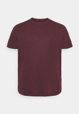 Basic T-shirt - mottled bordeaux
