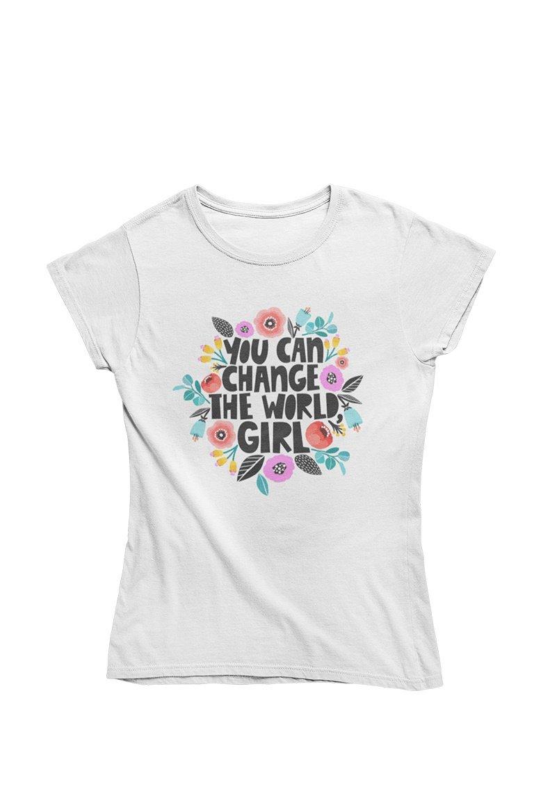 Damen YOU CAN CHANGE THE WORLD GIRL - T-Shirt print