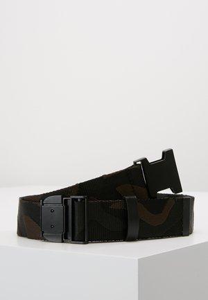 JAQUARD CAMO BELT - Belt - black/brown