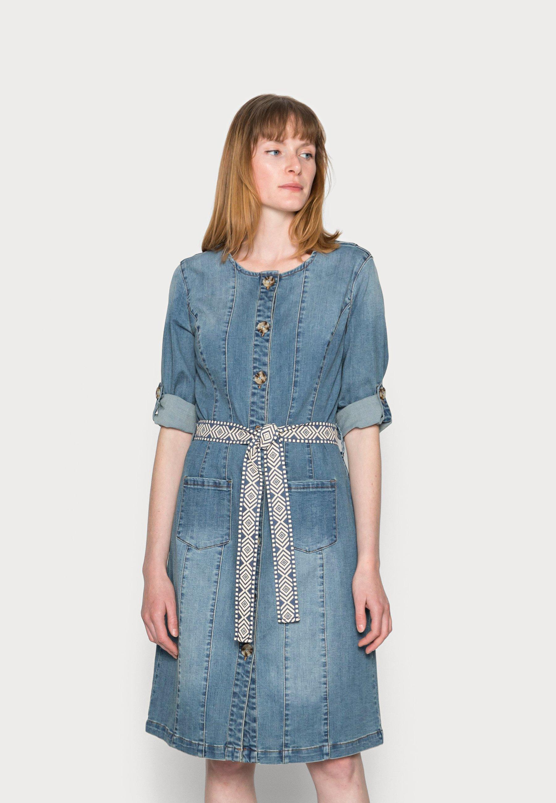 Women BERETE DRESS - Denim dress