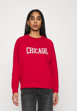 ONLCHICAGO L/S ONECK SWEAT - Bluza - chili pepper