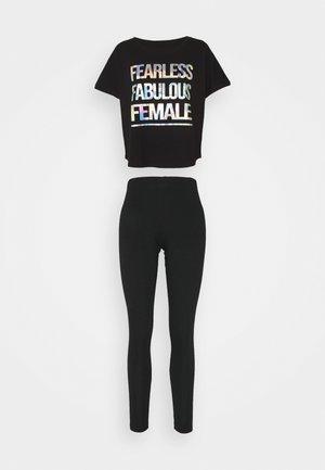 FEARLESS FABULOUS FEMALE SET - Pyjamas - black