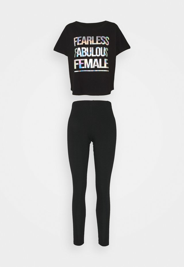 FEARLESS FABULOUS FEMALE SET - Pyjama - black