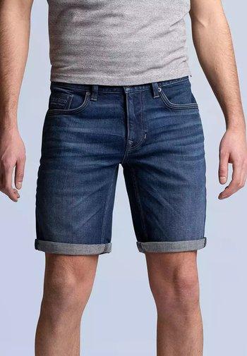 NIGHTFLIGHT - Denim shorts - dark used comfort