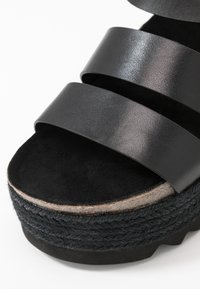 Even&Odd - LEATHER  - Espadrilles - black - 2