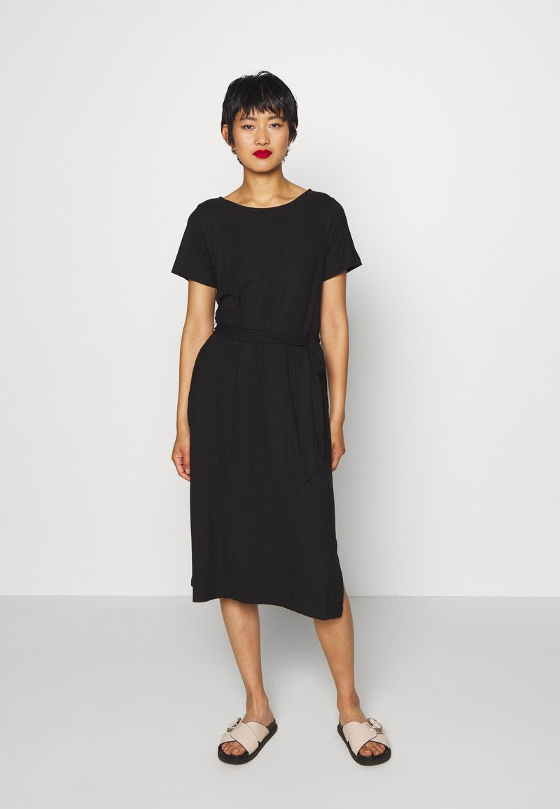 Object - OBJCELIA DRESS - Žerzejové šaty - black