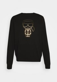 CREWNECK - Mikina - black/gold