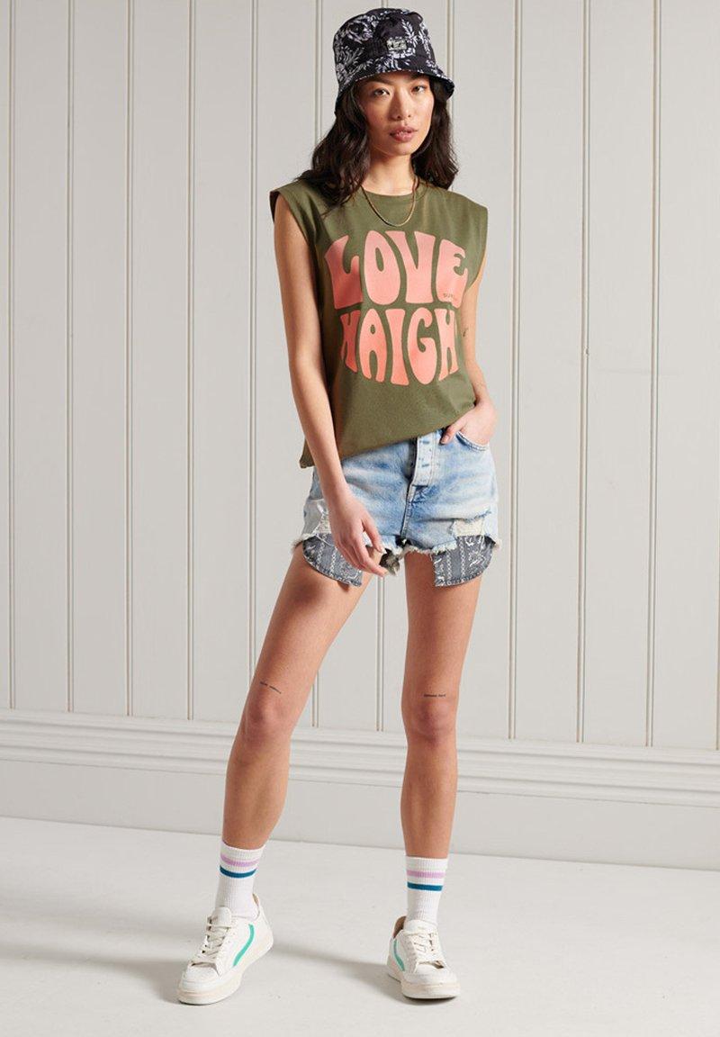 Superdry - Print T-shirt - khaki