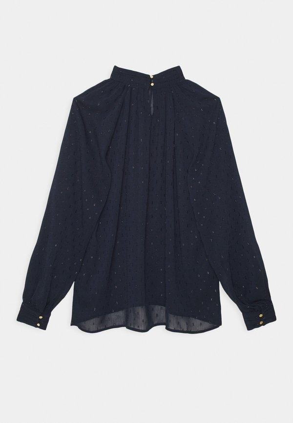 Lindex BLOUSE AUDREY - Bluzka z długim rękawem - dark blue/granatowy LRLL