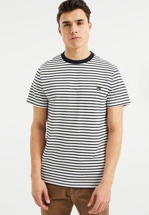 MET STREEPDESSIN - Print T-shirt - white