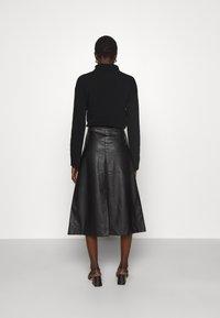 Lovechild - GIOVANNI SKIRT - A-line skirt - black - 2