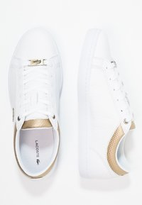 Lacoste - STRAIGHTSET CAW  - Joggesko - white/gold - 2