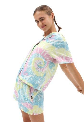 WM SPIRALING SS WOVEN - Button-down blouse - multi-coloured