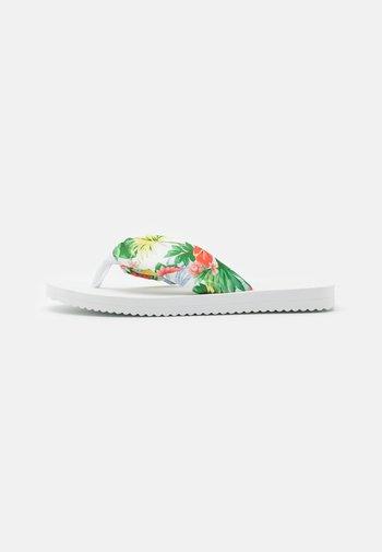 TUBE TROPICS - T-bar sandals - white