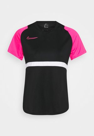 DRY - Camiseta estampada - black/hyper pink/white