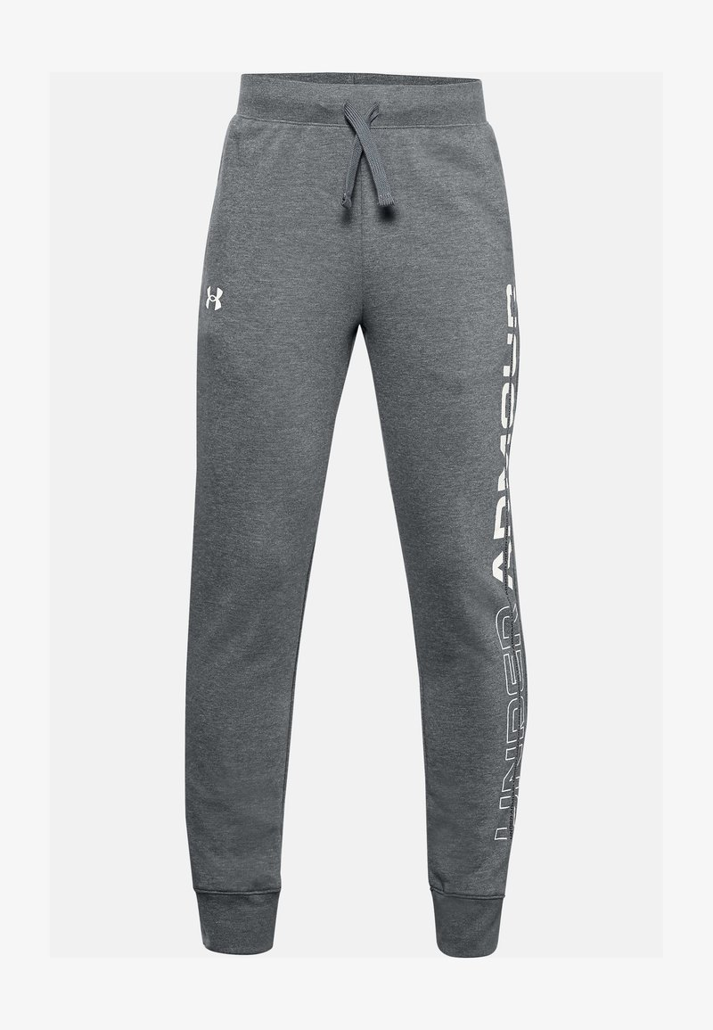 Under Armour - Tracksuit bottoms - pitch gray light heather