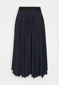 Esprit - PLISEE SKIRT - Pleated skirt - navy - 0