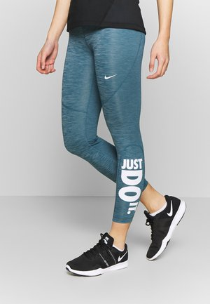 Leggings - valerian blue/white