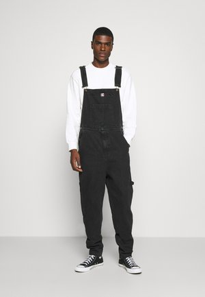 RETRO WASHED DUNGAREE - Dungarees - black