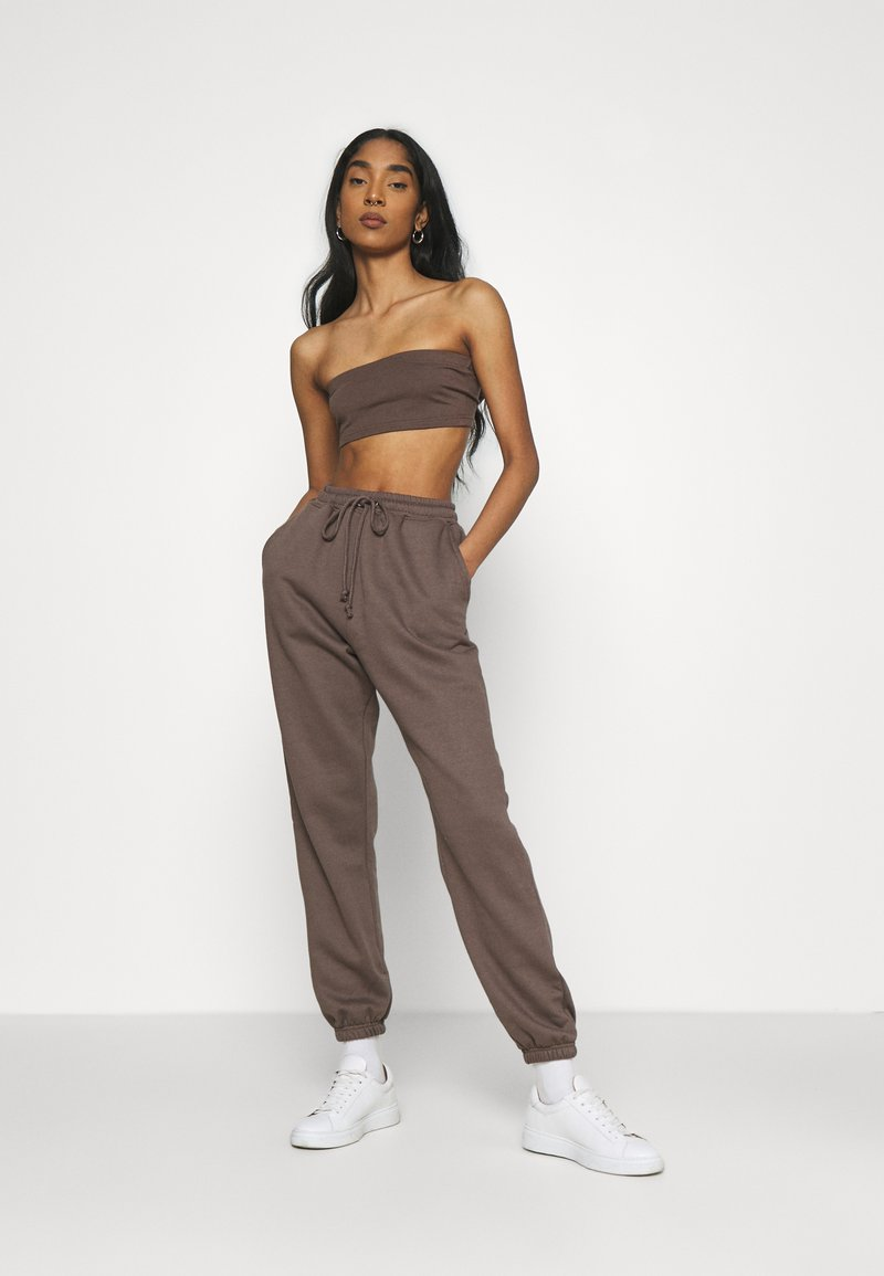Missguided - SET - Top - brown