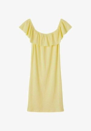 OFF-SHOULDER - Sukienka z dżerseju - mellow yellow
