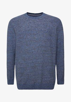 STRUCTURED - Pullover - blue navy/light blue