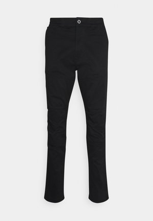 RACKAM 3D SLIM TRAINER - Trousers - dark black