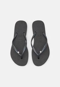 Havaianas - SLIM CRYSTAL SWAROVSKI - Pool shoes - black - 0