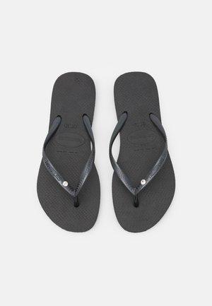 SLIM CRYSTAL SWAROVSKI - Japonki kąpielowe - black
