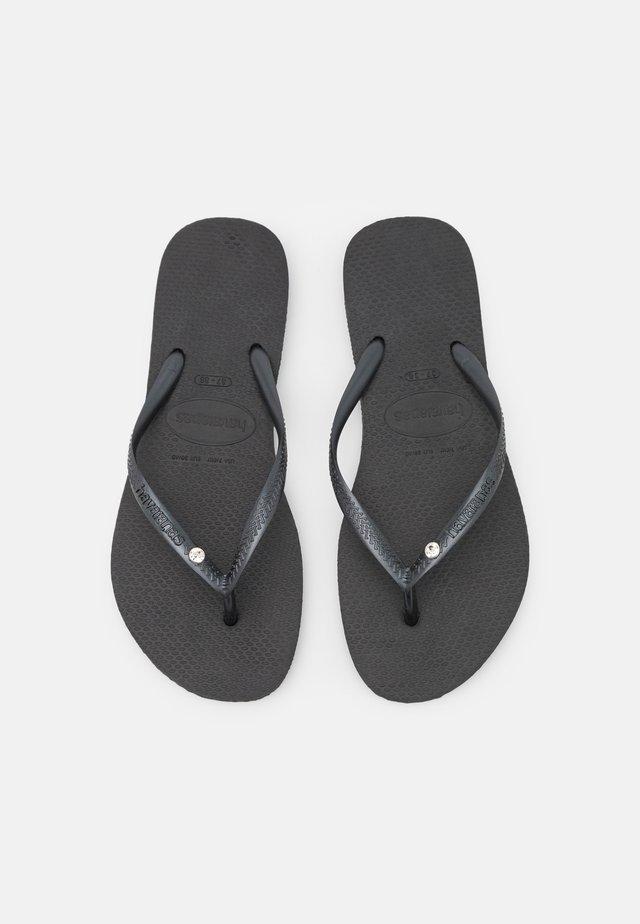 SLIM CRYSTAL SWAROVSKI - Pool shoes - black