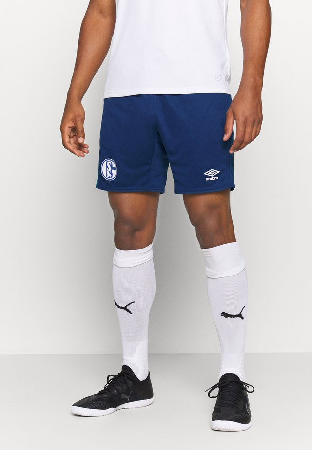 FC SCHALKE 04 TRAINING - Korte sportsbukser - navy/blue sapphire