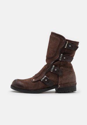 SHIELD - Cowboy/Biker boots - dark brown