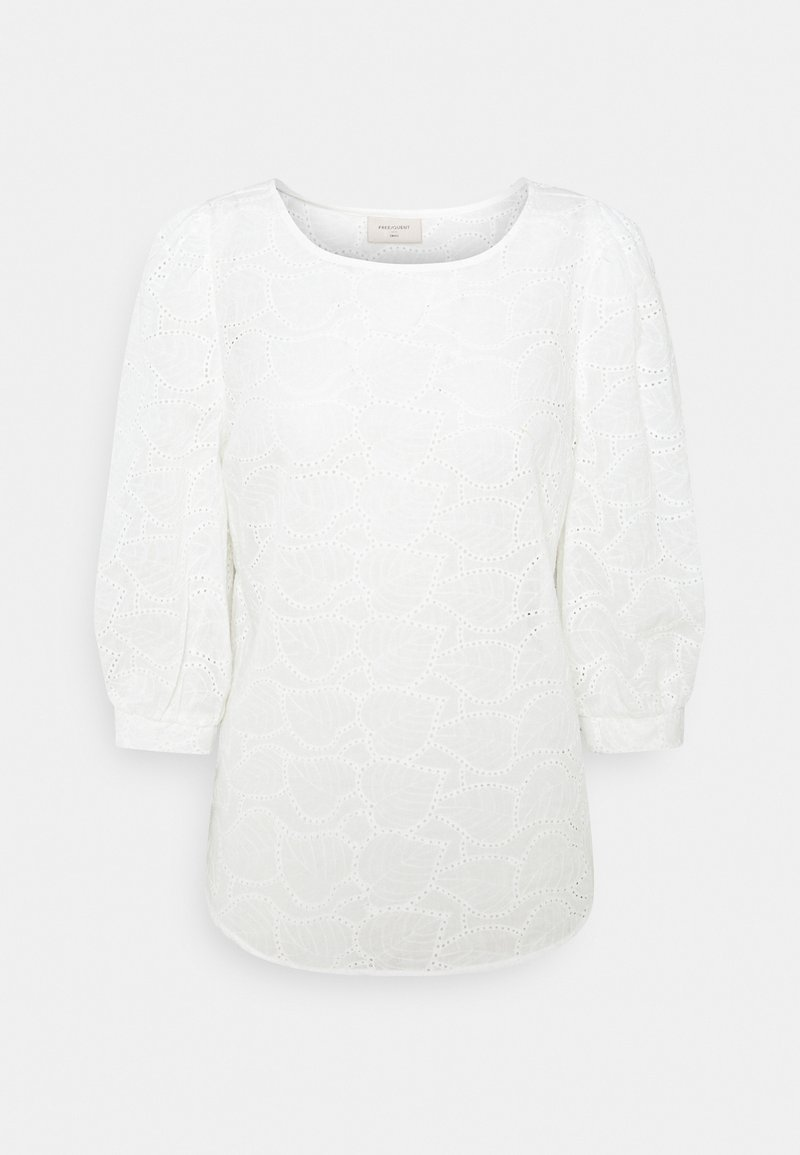 Freequent - ZIGGI - Long sleeved top - brilliant white