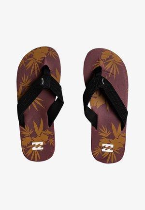 T-bar sandals - oxblood