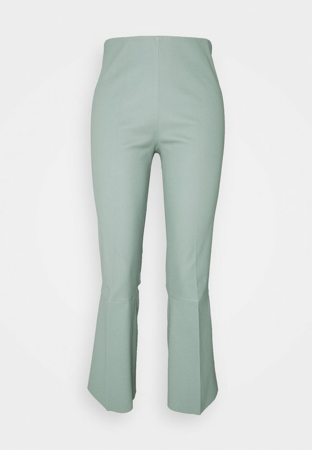 PHASE - Kožené kalhoty - green