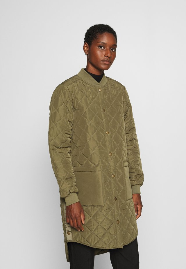 DONIA COAT - Kort kappa / rock - burnt olive