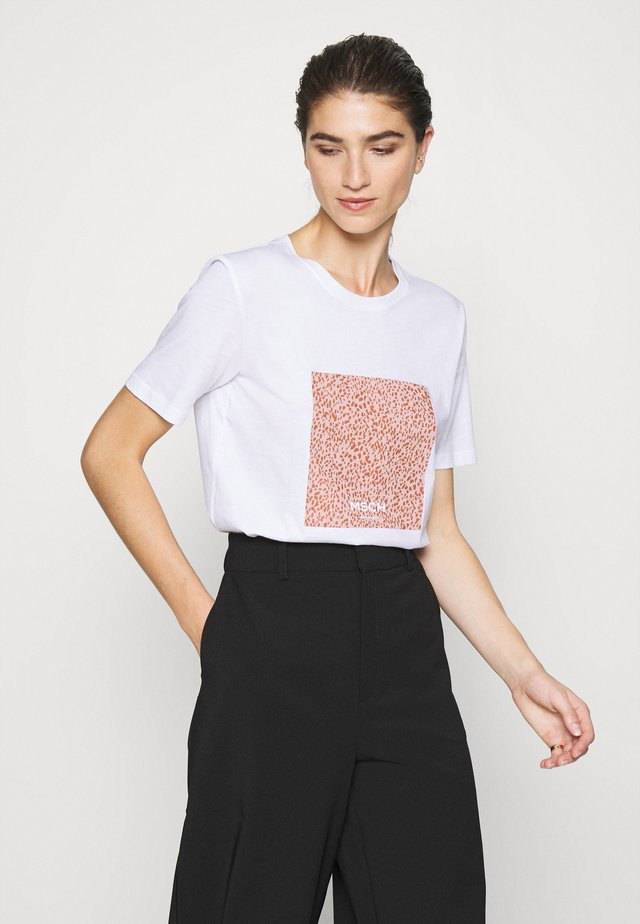 ALVA PRINT TEE - T-shirt print - white/rose