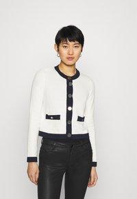 Liu Jo Jeans - MAGLIA APERTA INTARSIO - Cardigan - off-white - 0