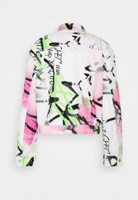 Jaded London - SPRAY PAINT GRAFFITI - Denim jacket - white - 1