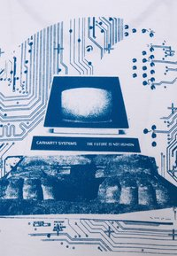 Carhartt WIP - SYSTEMS - Printtipaita - white/blue - 2