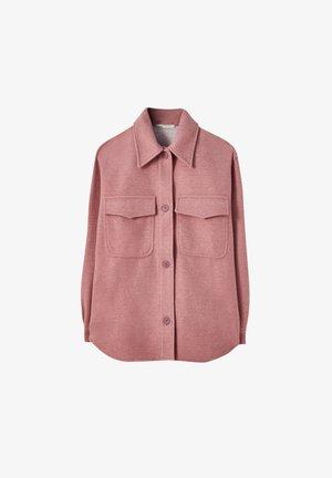 Krátký kabát - rose gold