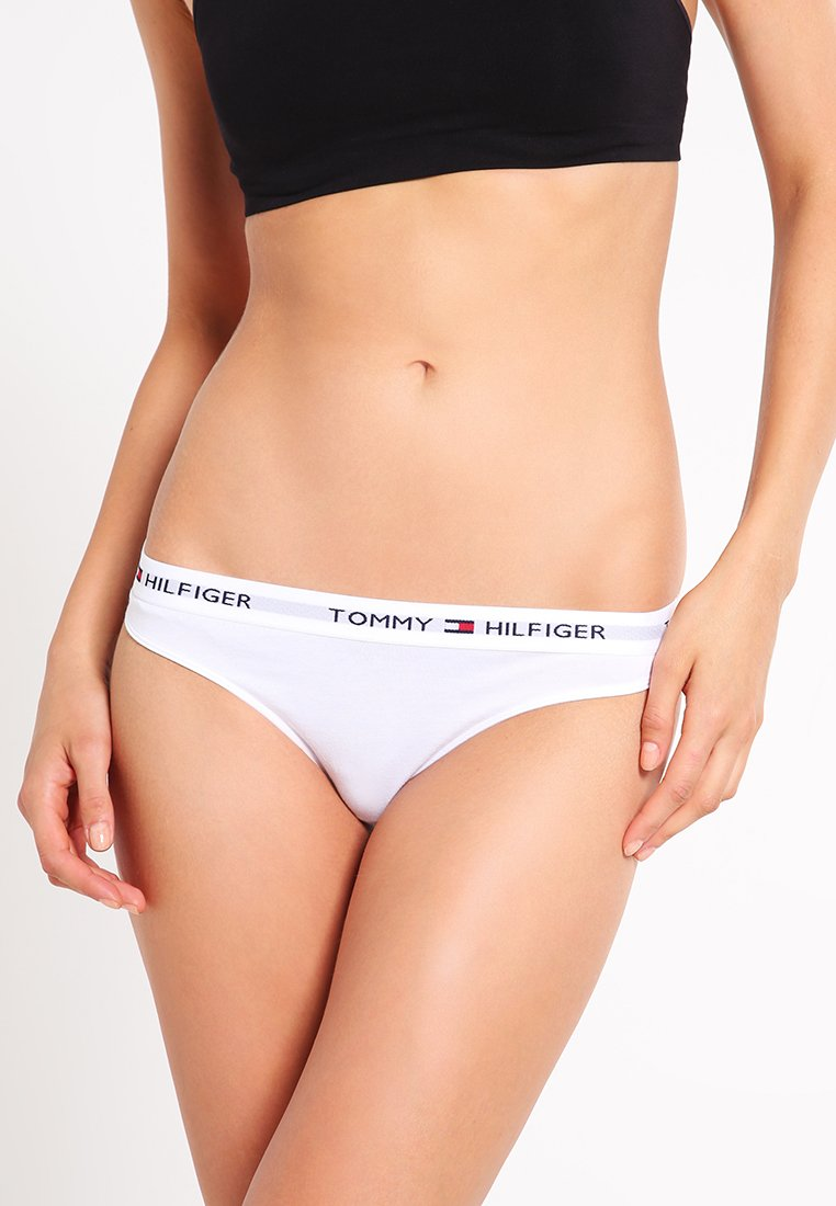 Tommy Hilfiger - THONG ICONIC - Thong - white